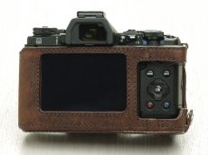 Photo4: Leather Camera Body Suit [for OLYMPUS OM-D E-M5 MarkII] (4)