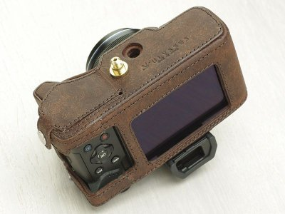 Photo1: Leather Camera Body Suit [for OLYMPUS OM-D E-M5 MarkII]