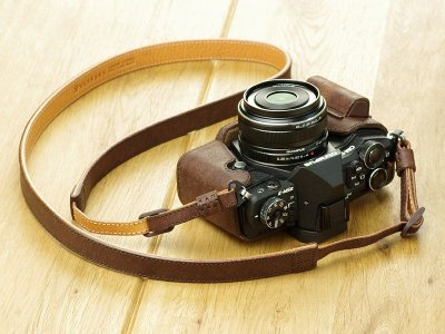 Photo2: Leather Camera Body Suit [for OLYMPUS OM-D E-M5 MarkII]