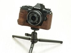 Photo5: Leather Camera Body Suit [for OLYMPUS OM-D E-M5 MarkII] (5)