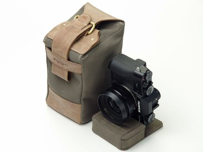 Photo3: Leather Camera Case [SACCO]