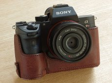 Photo1: Leather Camera Body Suit [for SONY a7 III / a7R III / a9] (1)