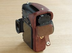 Photo4: Leather Camera Body Suit [for SONY a7 III / a7R III / a9] (4)