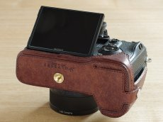 Photo6: Leather Camera Body Suit [for SONY a7 III / a7R III / a9] (6)