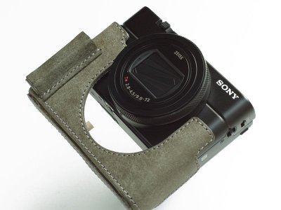 Photo2: Leather Camera Body Suit [for SONY RX100M6]