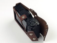 Photo4: Leather Camera Body Suit [for Ricoh GR3] (4)