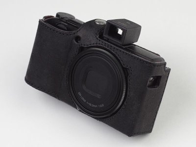 Photo2: Leather Camera Body Suit [for Ricoh GR3]