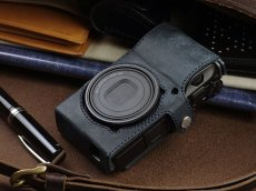 Photo2: Leather Camera Body Suit [for Ricoh GR3] (2)