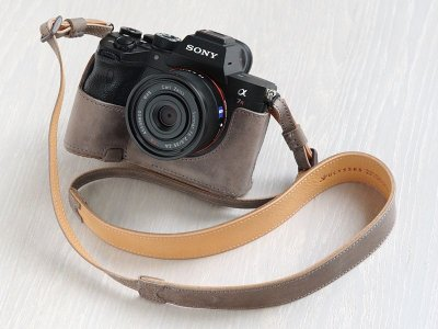 Photo3: Leather Camera Body Suit [for SONY a7 IV / a9 II]