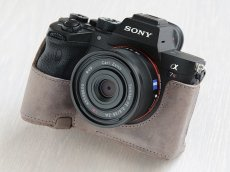 Photo1: Leather Camera Body Suit [for SONY a7 IV / a9 II] (1)