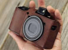 Photo1: Leather Camera Body Suit [for Ricoh GR3] (1)