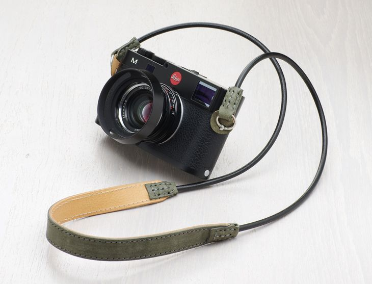 Photo1: Leather Camera Strap [SLING SHOT] (1)