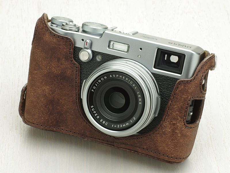 Photo1: Leather Camera Body Suit [for FUJIFILM X100T/X100S/X100] (1)