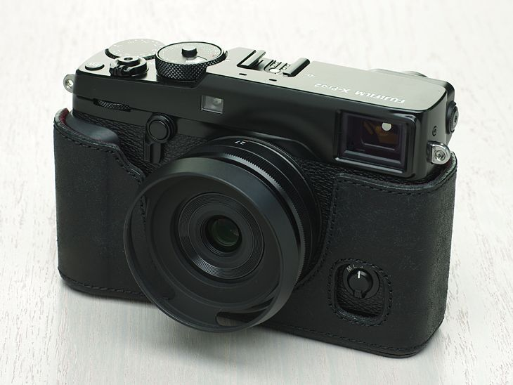 Photo1: Leather Camera Body Suit [for FUJIFILM X-Pro2] (1)