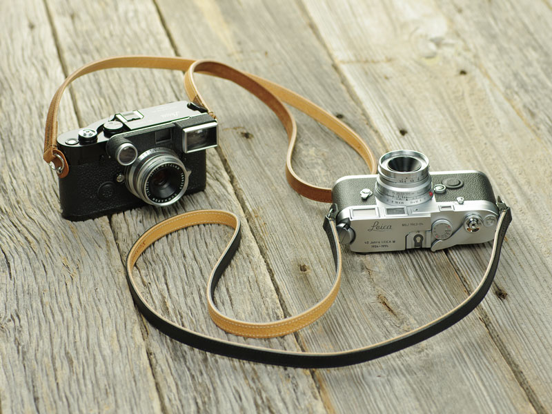 Photo1: Leather Camera Strap [CLASSICO DRITTO] (1)
