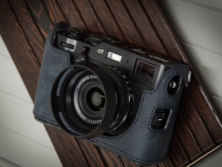 Photo1: Leather Camera Body Suit [for FUJIFILM X100F] (1)